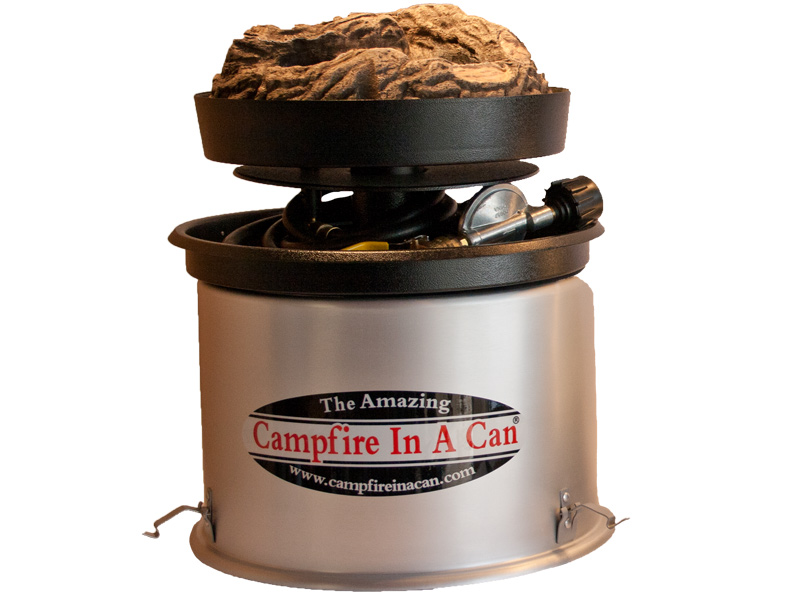 campfire in a can on lid